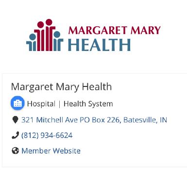 Margaret Mary Health Info
